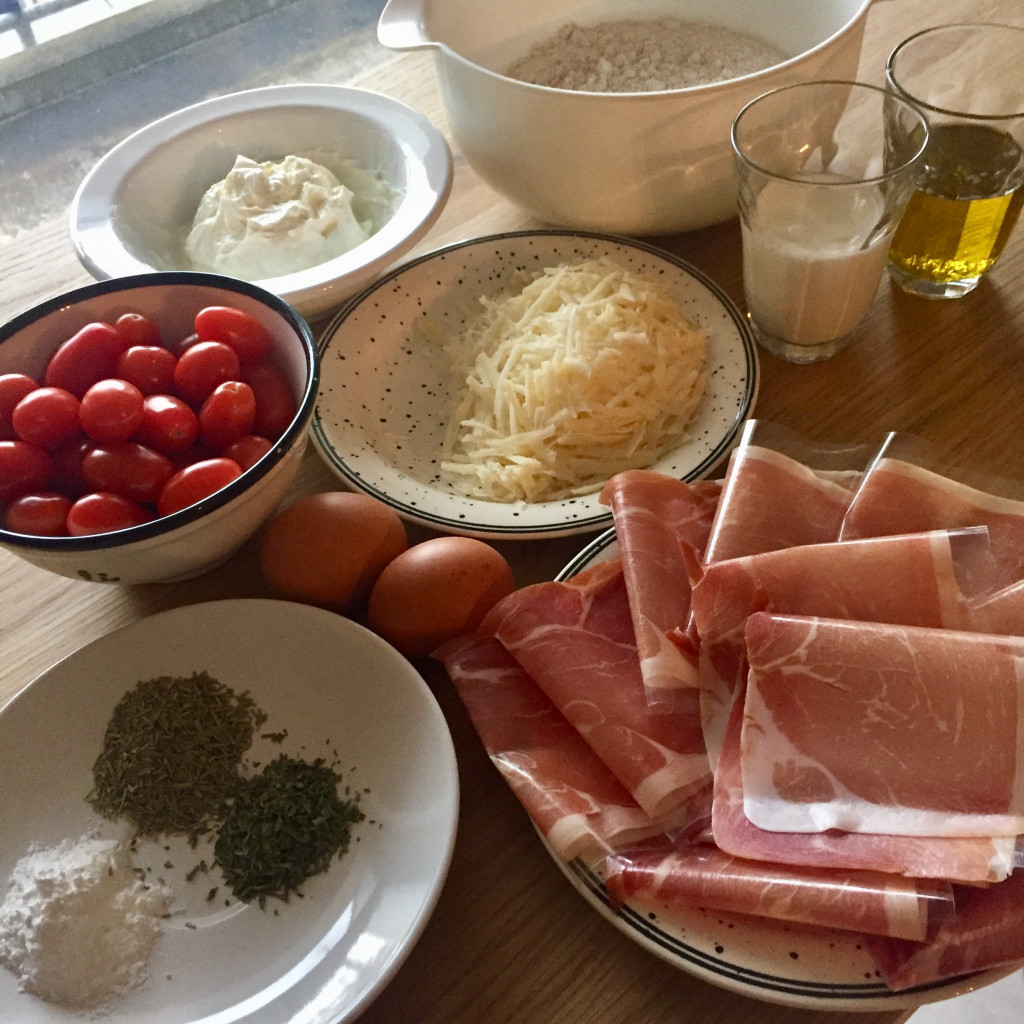 Zutaten für Tomaten-Muffins
